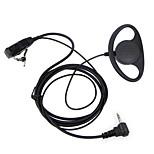 D Typ Headset ptt 1 Pin fbi Ohrhaken Ohrhörer für Motorola tragbaren Schinken Radio Headset tlkr t3 t4 t60 t80 mr350r Walkie Talkie