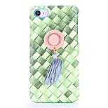 For DIY Case Color Gradient Hard Weave Straw Hat PC Back Cover Case for Apple iPhone 7 Plus iPhone 7 iPhone 6s Plus/6 Plus iPhone 6s/6