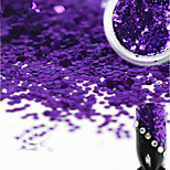 1 Bottle Sweet Style Beautiful Dark Purple Hexagonal Nail Art Glitter Water Droplet Paillette Decoration Shiny Nail DIY Decoration Beauty Design D02