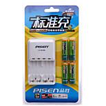 PISEN AA Nickel Metal Hydride Rachargeable Battery 1.2V 2500mAh 4 Pack