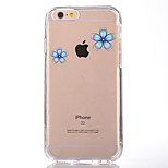 For IPhone 7 Case Back Cover Case TPU Blue Petals Pattern for iPhone 7/ 7 Plus 6s/ 6 /6s Plus / 6 Plus/ SE / 5s / 5 /5C/ 4/4s