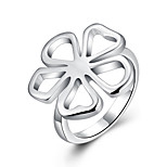 Ring Euramerican Silver Plated Round Silver Jewelry For Daily 1pc