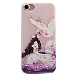 For Apple iPhone 7 7 Plus 6S 6 Plus SE 5S 5 Case Cover Beauty And Cranes Pattern Painted Point Drill Scrub TPU Material Luminous Phone Case