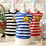 Cat Dog Shirt / T-Shirt Red Blue Black Dog Clothes Summer Spring/Fall Stripe Cute Sports Fashion Casual/Daily