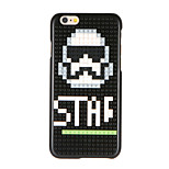 For DIY Block Building Case Skull Pattern Back Cover Case Hard PC for Apple iPhone 7 7 Plus 6s 6 Plus
