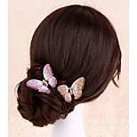 1 Pcs Alloy Crystal Butterfly Hairpin Clip High-Grade Crystal Hairpin The Butterfly Hair Catch