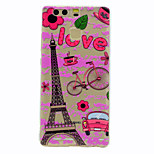 For Case Cover Transparent Pattern Back Cover Case Eiffel Tower Soft TPU for HuaweiHuawei P10 Plus Huawei P10 Lite Huawei P10 Huawei P9