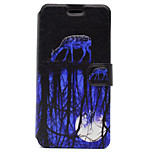 For Huawei P8 Lite (2017) P10 Case Cover Deer Pattern HD Painted Voltage TPU Process PU Skin Phone Case