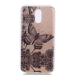 For Moto G4 Moto G4 PLUS Double IMD Case Back Cover Case Flowers And Butterflies Pattern Soft TPU