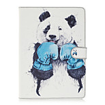 For Apple iPad 4 3 2 Case Cover Kungfu Panda Pattern Painted Card Stent Wallet PU Skin Material Flat Protective Shell