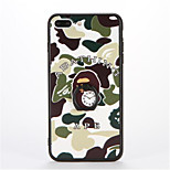 For Ring Holder Embossed Pattern Case Back Cover Case Camouflage Color Hard PC for Apple iPhone 7 Plus iPhone 7 iPhone 6s Plus iPhone 6