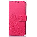 For Meizu M3 note M3S with Card Holder Wallet and Stand Flip Embossed Case Full Body Case Flower Hard PU Leather
