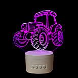 1 stk på fem farver oprindelige hjem gaver bluetooth audio knop-betjente kontrol 3d nat lampe