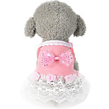 Cat Dog Dress Pink Dog Clothes Summer Spring/Fall Princess Cute