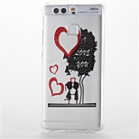 For  Huawei P9/P9 Lite Shockproof Transparent Pattern Case Back Cover Case Cartoon Heart Soft TPU Huawei P8 Lite