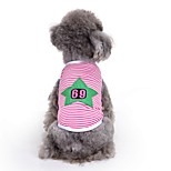 Cat Dog Vest Dog Clothes Summer Stars Cute Fashion Casual/Daily Number 69 Cotton for Pets Dogs