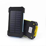 10000mAhbanco de la energía de la batería externa Carga Solar Multisalida Linterna Impermeable 10000 3100Carga Solar Multisalida Linterna