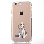 For iPhone 7 Cartoon Dog TPU Soft Ultra-thin Back Cover Case Cover For Apple iPhone 7 PLUS 6s 6 Plus SE 5s 5 5C 4S 4