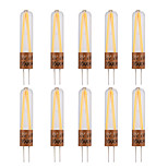 YWXLight® 10Pcs G4 2W COB 2LED 170LM Warm White Cool White Decorative LED Bi-Pin Lights (AC 220-240V)