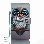 For Huawei P8 Lite (2017) Mate 9 Card Holder Wallet with Stand Flip Pattern Case Full Body Case Owl Hard PU Leather