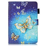 For Card Holder Wallet with Stand Flip Pattern Case Full Body Case Butterfly Hard PU Leather for Apple iPad Mini 4 iPad Mini 3/2/1