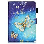 Pour Portefeuille Porte Carte Avec Support Clapet Motif Coque Coque Intégrale Coque Papillon Dur Cuir PU pour AppleiPad Mini 4 iPad Mini