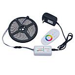 Jiawen 5m 5050SMD LED RGB 60leds luz tira / m transformador adaptador de alimentação 2a DC12V 2,4 g rf controlador remoto