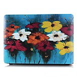 MacBook Case for Flower Oil Painting PVC Material