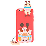 For Pattern Case Back Cover Case 3D Cartoon Soft TPU for Apple iPhone 7 Plus iPhone 7 iPhone 6s Plus iPhone 6 Plus iPhone 6s iPhone 6