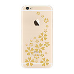 For Transparent Pattern Case  Flower Soft TPU for Apple iPhone 7 Plus 7 iPhone 6 Plus  6 iPhone 5 SE 5C  iphone 4