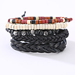 The New Vintage Cowhide Ancient Hand Woven Bracelet Cortical Layers Hand Rope Men's Bracelet Adjustable Size049