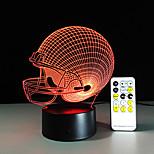3Dライトは、シカゴはフットボールヘルメットスポーツキャップ3dは子供たちのために夜の光の視覚ランプクリスマスギフトを導いたクマ主導しました
