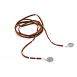 Women's Choker Necklaces Jewelry Alloy Line Pendant Euramerican Tassels Fashion Adjustable White Black Brown Jewelry Party Daily Casual