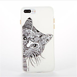 For Glow in the Dark Pattern Case Back Cover Case Cat Soft TPU for iPhone7 7plus 6 6Splus 5 5S