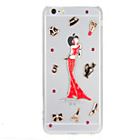 For Rhinestone Transparent Case Back Cover Case Sexy Lady Hard PC for Apple iphone7plus 7 6splus 6plus 6s 6