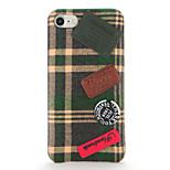 For DIY Case Retro Plaid Cloth Soft Textile Back Cover Case for Apple iPhone 7 Plus iPhone 7 iPhone 6s Plus/6 Plus iPhone 6s/6