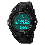 SKMEI 1141 Men's Woman Watch Double Significant Outdoor Sports Watch Mountain Climbing Waterproof Electronic Watch Male LED Students Multi - Function