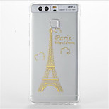 For  Huawei P9/P9 Lite Shockproof Transparent Pattern Case Back Cover Case Eiffel Tower Soft TPUHuawei P8 Lite