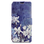 For Sony Xperia XA E5 Case Cover White Flowers Pattern HD Painted Voltage TPU Process PU Skin Phone Case Xperia C6 Ultra