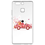 For Huawei P9 Pattern Case Back Cover Case Floating Girl Soft TPU for  Huawei P9 / P9 Lite / P8 / P8 Lite