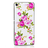 For Sony Xperia XA Case Cover Rose Flower Pattern Luminous TPU Material IMD Process Soft Case Phone Case