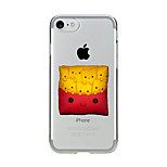 Per Transparente Fantasia/disegno Custodia Custodia posteriore Custodia Cartone animato Morbido TPU per AppleiPhone 7 Plus iPhone 7