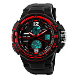 SKMEI 1148 Men's Woman Watch Double Significant Outdoor Sports Watch Mountain Climbing Waterproof Electronic Watch Male LED Students Multi - Function