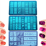 1pcs Colorful&Lovely Design DIY Fashion Stamping Plate Nail Stainless Steel Stamping Plate Polish Nail Tool Manicure Beauty Stencils XY-J01-10