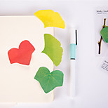 1 PCS Leaf Shape Self-Stick Notes Set