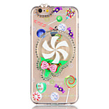 For Rhinestone Flowing Liquid DIY Case Back Cover Case Glitter Shine 3D Cartoon Soft TPU for Apple iPhone 7 7 Plus 6s 6 Plus SE 5s 5
