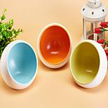 Cat Dog Bowls & Water Bottles Feeders Pet Bowls & Feeding Waterproof Double-Sided Orange Yellow Blue