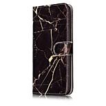 Para Carteira Porta-Cartão Com Suporte Flip Estampada Magnética Capinha Corpo Inteiro Capinha Mármore Rígida Couro PU para AppleiPhone 7