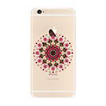 Für Transparent Muster Hülle Rückseitenabdeckung Hülle Mandala Weich TPU für AppleiPhone 7 plus iPhone 7 iPhone 6s Plus iPhone 6 Plus