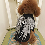 Cat Dog Costume Black Dog Clothes Winter Summer Spring/Fall Angel & Devil Cute Classic Fashion Birthday Cosplay